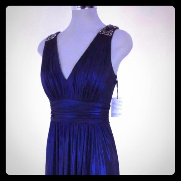 Calvin Klein Dresses Evening Gown Blueblack Poshmark